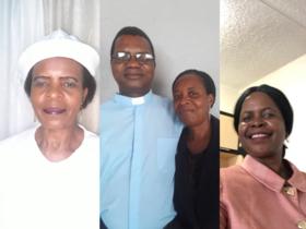 Mrs Suzen Ngulube, Reverend Absalom Sibanda and his wife Nomusa, Samukeliso Ndebele